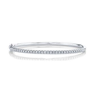 Shy Creation Eternal 14ct White Gold 0.80ct Diamond Bangle - Product number 1177141