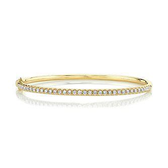 Shy Creation Eternal 14ct Yellow Gold 0.80ct Diamond Bangle - Product number 1177168