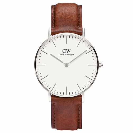 Daniel Wellington Ladies' Petite St Mawes Brown Strap Watch - Product number 1177206