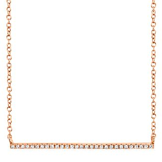 Shy Creation Kate 14ct Rose Gold Diamond Bar Necklace - Product number 1177753