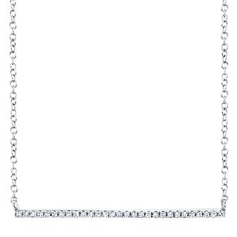 Shy Creation Kate 14ct White Gold Diamond Bar Necklace - Product number 1177761