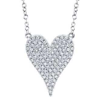 Shy Creation Kate 14ct White Gold Diamond Heart Necklace - Product number 1177931