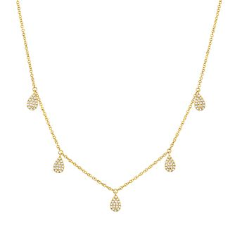 Shy Creation Kate 14ct Yellow Gold 0.24ct Diamond Necklace - Product number 1177982
