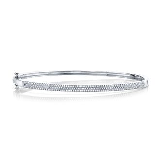 Shy Creation Kate 14ct White Gold 0.45ct Diamond Bangle - Product number 1177990