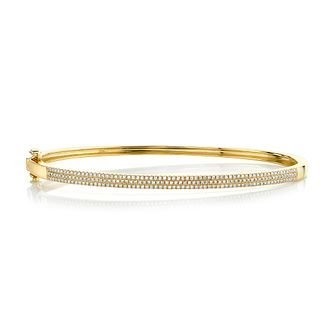 Shy Creation Kate 14ct Yellow Gold 0.45ct Diamond Bangle - Product number 1178008