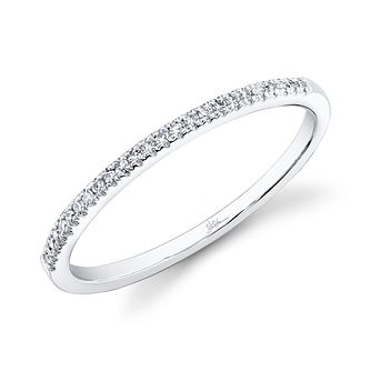 Shy Creation Kate 14ct White Gold pavé-Set Diamond Ring - Product number 1178016