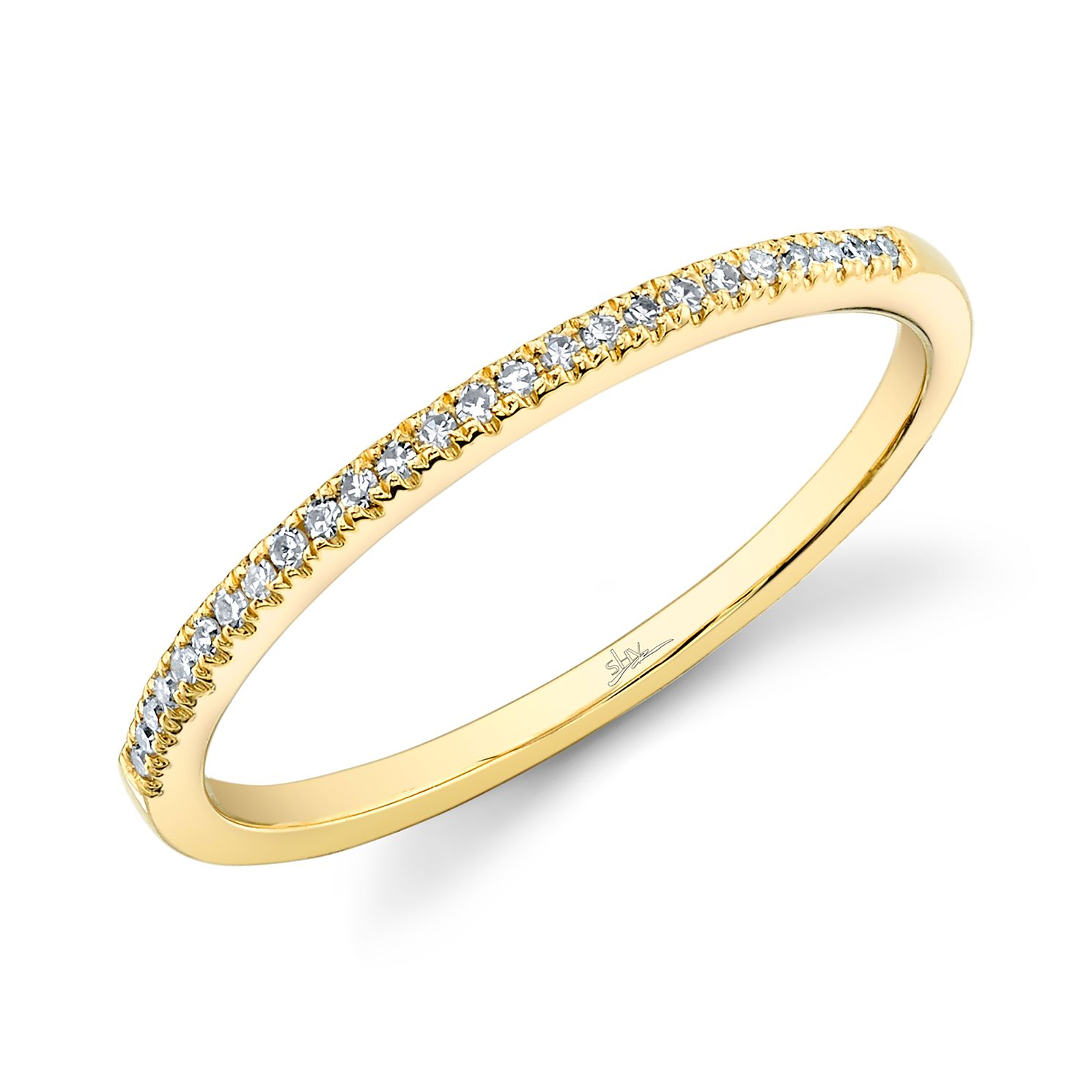 Shy Creation Kate 14ct Yellow Gold Pavé-Set Diamond Ring - Product number 1178148