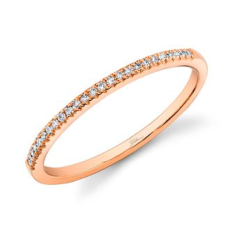 Shy Creation Kate 14ct Rose Gold pavé-Set Diamond Ring - Product number 1178261