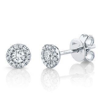 Shy Creation Eden 14ct White Gold 0.22ct Diamond Earrings - Product number 1178407