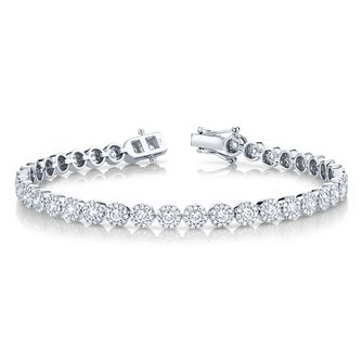 Shy Creation Eden 14ct White Gold 2.93ct Diamond Bracelet - Product number 1178555