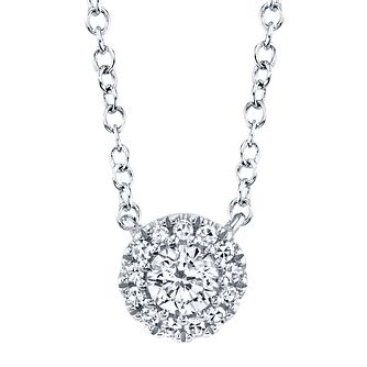 Shy Creation Eden 14ct White Gold 0.12ct Diamond Necklace - Product number 1178563
