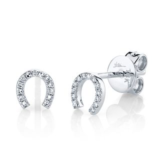 Shy Creation Kate 14ct White Gold Diamond Horseshoe Earrings - Product number 1178571