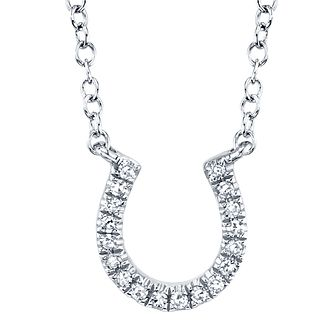 Shy Creation Kate 14ct White Gold Diamond Horseshoe Necklace - Product number 1178628