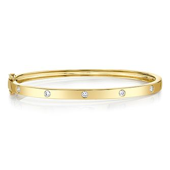 Shy Creation Kate 14ct Yellow Gold 0.36ct Diamond Bangle - Product number 1178954