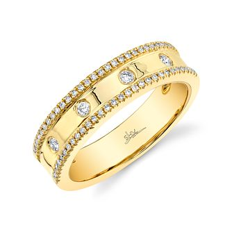 Shy Creation Kate 14ct Yellow Gold 0.21ct Diamond Ring - Product number 1179098