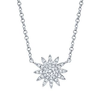 Shy Creation Kate 14ct White Gold 0.13ct Diamond Necklace - Product number 1179403