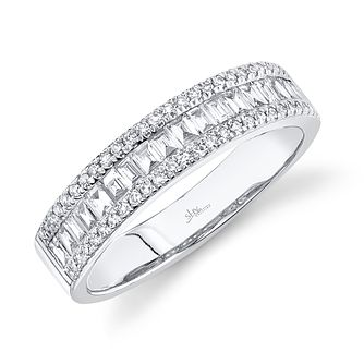 Shy Creation 14ct White Gold 0.45ct Diamond Ring - Product number 1179411