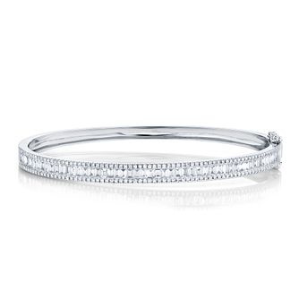 Shy Creation Kate 14ct White Gold 1.65ct Diamond Bangle - Product number 1179543