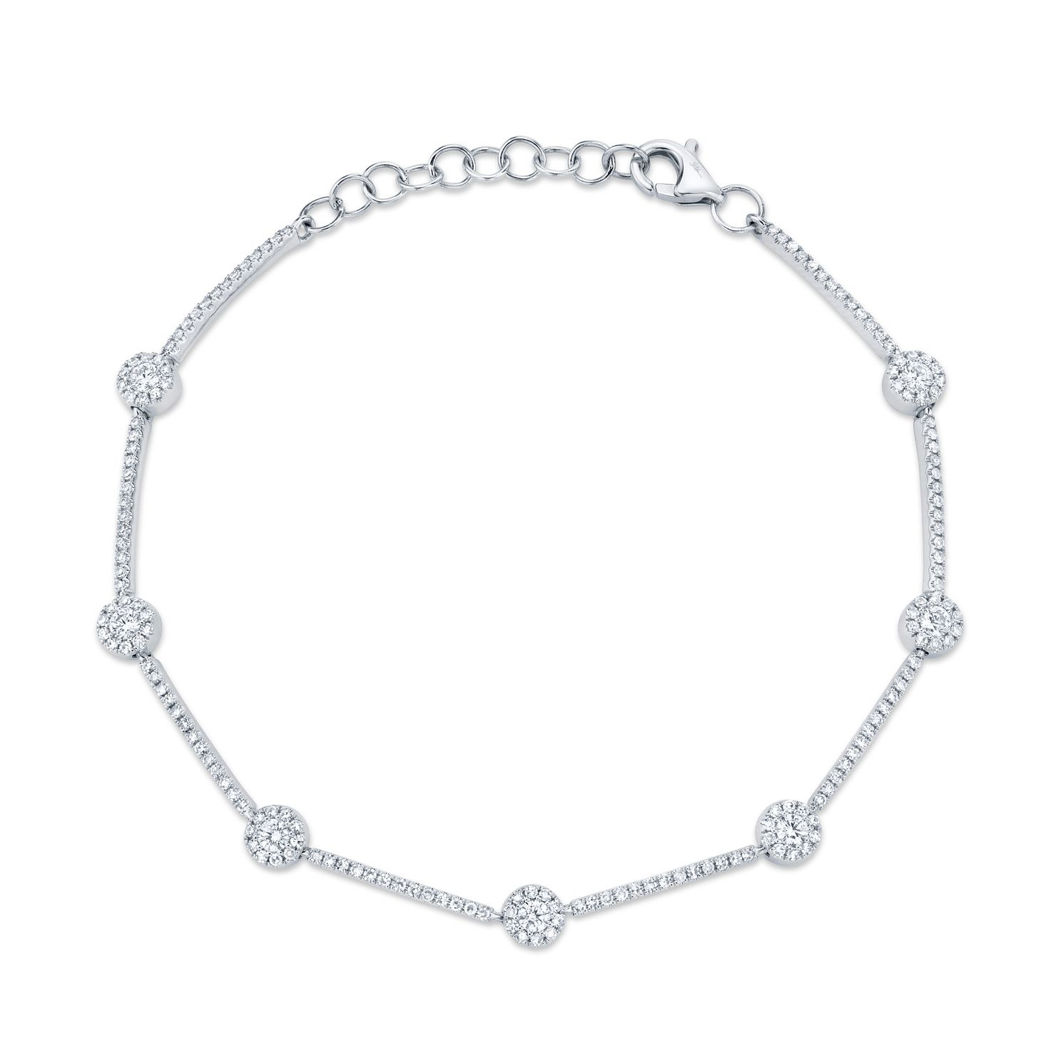 Shy Creation Eden 14ct White Gold 0.78ct Diamond Bracelet - Product number 1179551