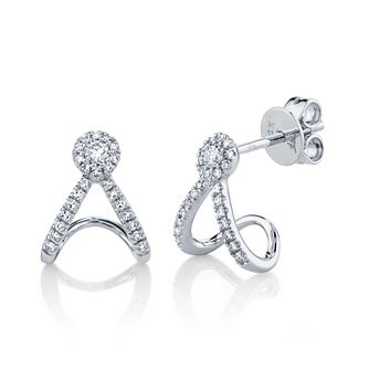 Shy Creation Eden 14ct White Gold 0.18ct Diamond Earrings - Product number 1179578