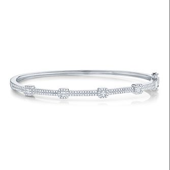 Shy Creation Kate 14ct White Gold 0.46ct Diamond Bangle - Product number 1179586