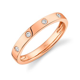 Shy Creation Kate 14ct Rose Gold Diamond Ring - Product number 1179918