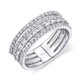 Shy Creation Kate 14ct White Gold 0.70ct Diamond Stack Ring - Product number 1180177