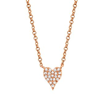 Shy Creation Kate 14ct Rose Gold Diamond Heart Necklace - Product number 1180452
