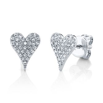 Shy Creation Kate 14ct White Gold 0.12ct Diamond Earrings - Product number 1180592