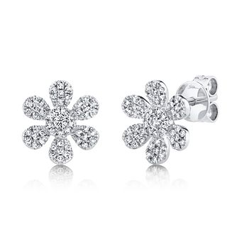 Shy Creation Eden 14ct White Gold 0.26ct Diamond Earrings - Product number 1180754