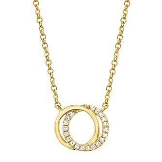 Shy Creation Kate 14ct Gold Diamond Circle Necklace - Product number 1180762