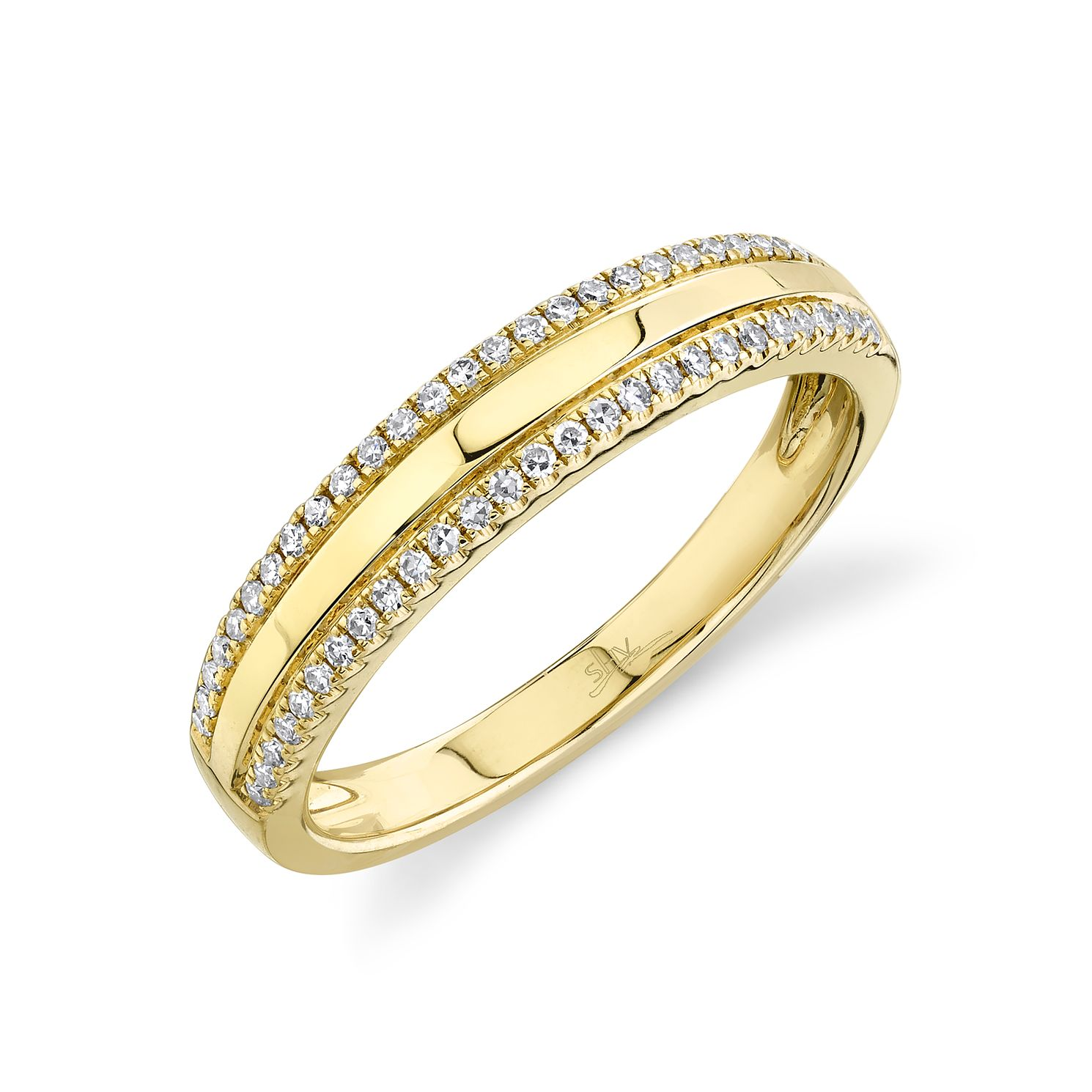 Shy Creation Kate 14ct Yellow Gold 0.15ct Diamond Ring - Product number 1181033