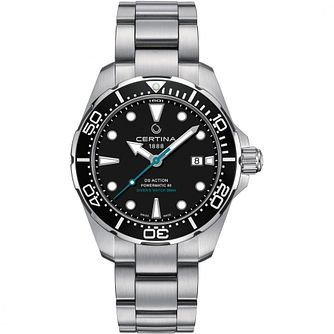 Certina Ds Action Men's Black Dial Bracelet Watch - Product number 1182242