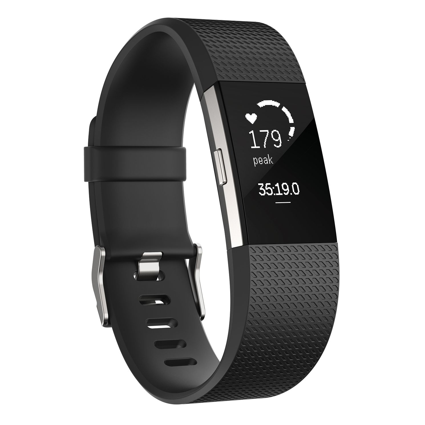 Fitbit Charge 2 Black/Silver Fitness Tracker Large - Product number 1183850