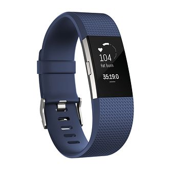 Fitbit Charge 2 Blue/Silver Smart Watch Small - Product number 1183877