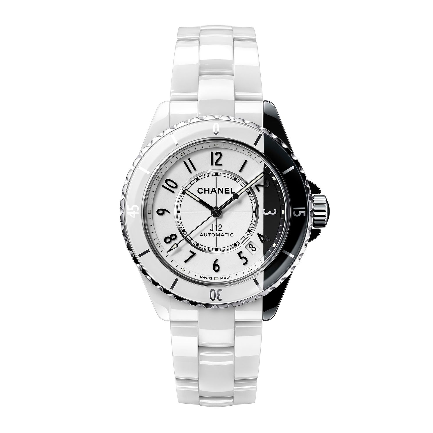Chanel J12 Ladies' White Ceramic Bracelet Watch - Product number 1184334