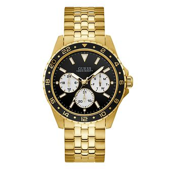 Guess Odyssey Men's Yellow Gold Tone Bracelet Watch - Product number 1184393