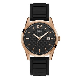 Guess Perry Men's Black Silicone Strap Watch - Product number 1184407