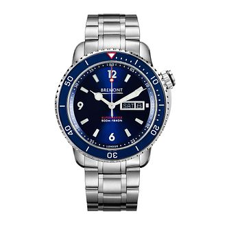 Bremont S500/BR Blue Men's Stainless Steel Bracelet Watch - Product number 1184687