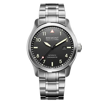 Bremont SOLO Black Men's Stainless Steel Bracelet Watch - Product number 1184695