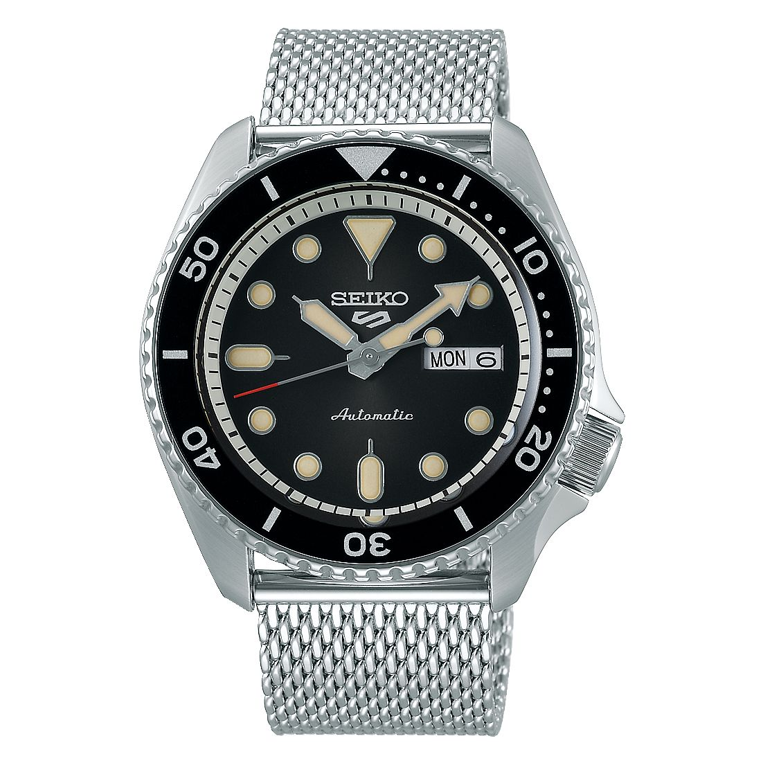 Seiko 5 Sports Men's Stainless Steel Mesh Bracelet Watch - Product number 1185012
