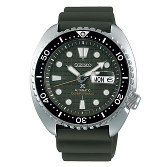 Seiko Prospex Auto Men's Khaki Green Rubber Strap Watch - Product number 1185047