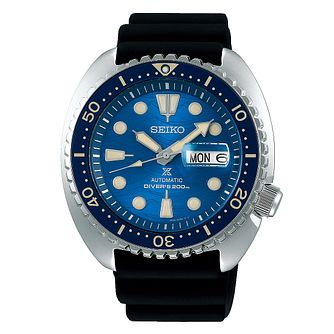 Seiko Prospex Auto Men's Black Rubber Strap Watch - Product number 1185055