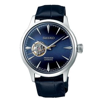Seiko Presage Blue Moon Men's Leather Strap Watch - Product number 1185101