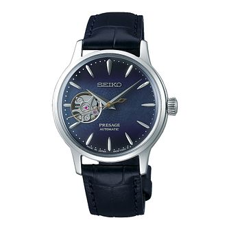 Seiko Presage Blue Moon Men's Leather Strap Watch - Product number 1185128