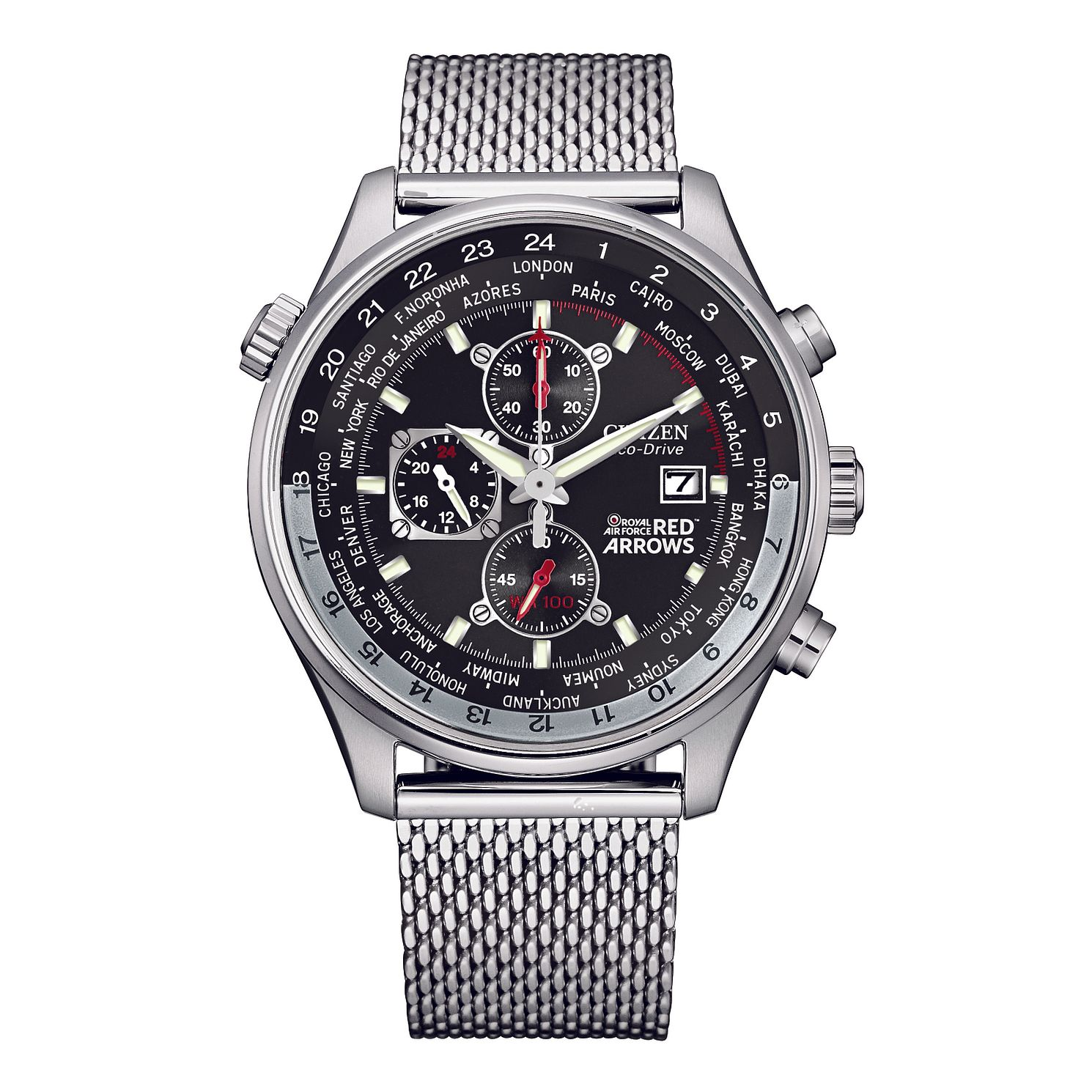 Citizen RAF Red Arrows Stainless Steel Mesh Bracelet Watch - Product number 1185306