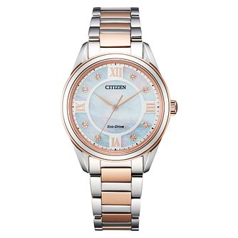 Citizen Arezza Ladies' Two Tone Bracelet Watch - Product number 1185330