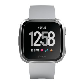 Fitbit Versa Gray/Silver Strap Smart Watch - Product number 1185497