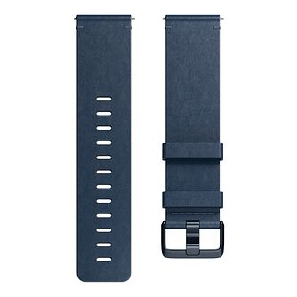 Fitbit Versa Leather Band Blue Small - Product number 1185667