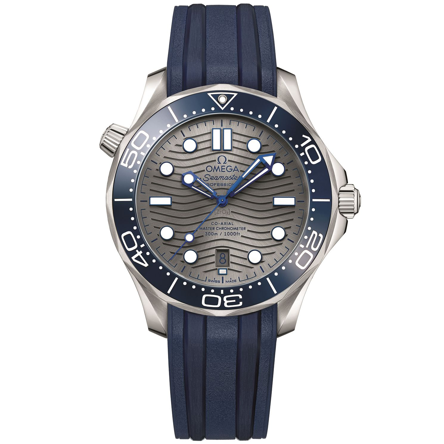 Omega Seamaster Diver Men's Blue Rubber Strap Watch - Product number 1185896